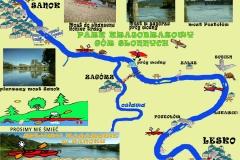 Mapa Lesko-Sanok